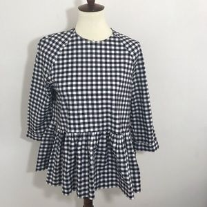 Victoria Beckham for target checkered blouse